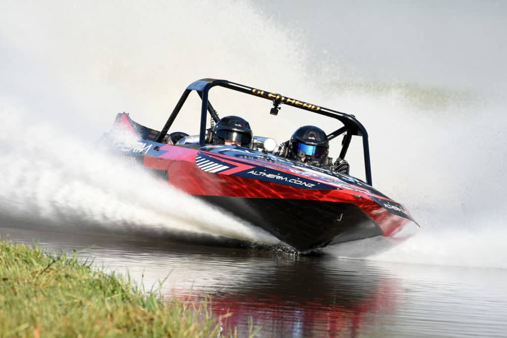 Peter Caughey of Sprintec the leading jet sprint boat manufacturer