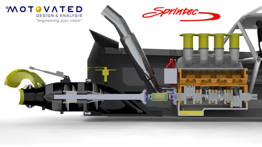 The craftmanship of the Sprintec jet unit is part of the reason why Sprintec is leading jet sprint boat designer